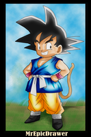 Dragonball Gt- Kid Goku GT by MrEpicDrawer