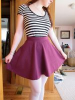 Maroon Skater Skirt by taylor-of-the-phunk
