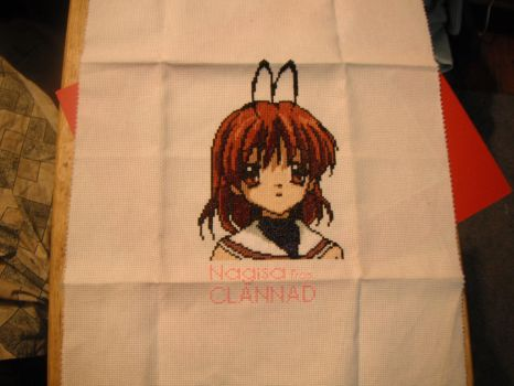 Nagisa From CLANNAD Cross Stitch by dottypurrs1