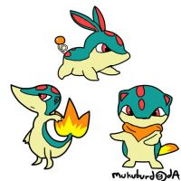 the new starter pokemon by mukuburd