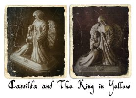 Cassilda and the King in Yellow by zombiequadrille