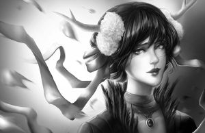 .Dragon Princess. Greyscale by Ka-ho