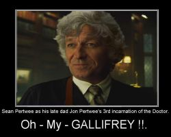 Doctor Who - Sean Pertwee as his dad's Doctor by DoctorWhoOne