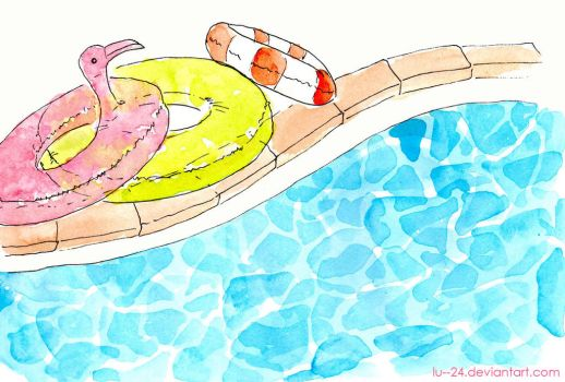 By The Pool by lu--24