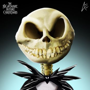Jack Portrait- The Nightmare before Christmas by Andersiano