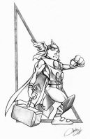 The young Thor by acook