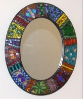 Eastern inspired mirror by Manicmosaics