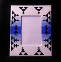 White Native American Designed Picture Frame by 814CK5T4R