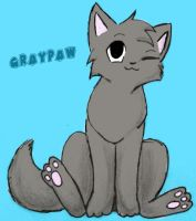 Graypaw by leftysmudgez