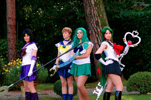 Outer Senshi by ValentinaEarnshaw