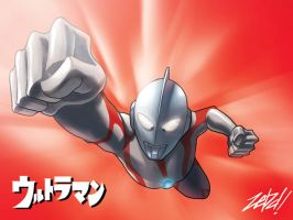 Ultraman by z3dd