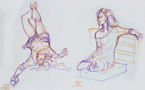 Life drawings - July 2012 by Gizmoatwork