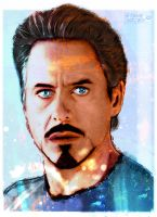 Tony Stark Coloured by Steve-Nice