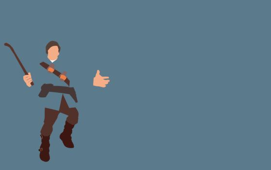TF2 Blu Soldier Minimalist Wallpaper by bohitargep