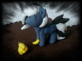 Yin the pony (plasticine) by EliskaPonikova