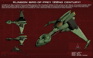 Klingon Bird-of-Prey [22nd Century] ortho [New] by unusualsuspex
