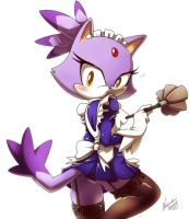 Blaze the cat +maid+ by nancher