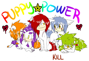 .:Canine + Sonic:. Puppy Power by SilverfanNumberONE