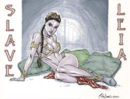 "Star Wars ""Slave Leia"" Commission 01 by John-Stinsman"