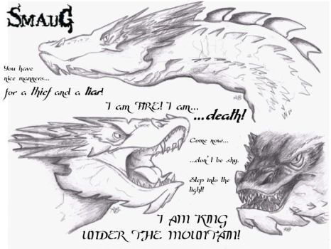The Hobbit: Smaug Realism by AlexandraBowmanArt