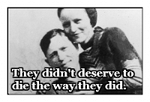 Bonnie and Clyde Stamp by rockstarcrossing