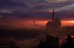 Castle in the fog by Secr3tDesign