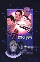 Mass Effect Poster by JGoogt