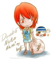One Piece - Chibi_Nami by Koret-Sirsep