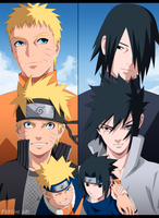 Naruto and Sasuke by FabianSM