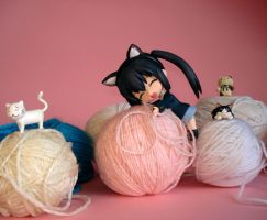 Azunyan and her ball of wool by copernico1984