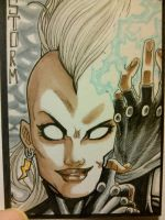 Sketch card -2- Storm by nork