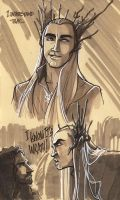 Thranduil sketches. by VanOxymore