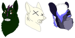 Headshot Batch 1 by boxes-of-foxxes