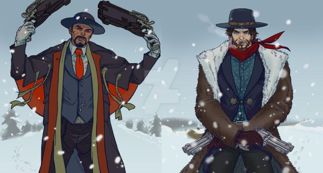 The Hateful Eight / Overwatch by sevenlake