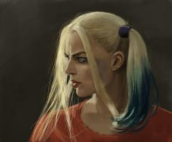 Margot Robbie Harley Quinn sketch by tonyob