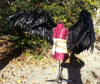 Large Costume Cosplay Feather Crows Wings by TheGriffinQueen