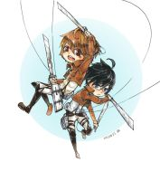 PitchxNapan Attack on Titan by sawa-rint