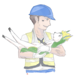 Worker and Deerling by Boxas