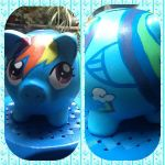 Rainbow Dash piggy bank!! by zulwolf