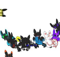 Chibi Night Fury picture! by iW-O-L-F