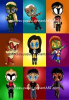Chibis - Young Justice by miss-marv