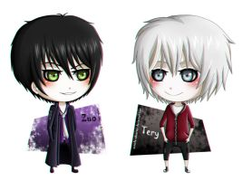 Chibi Zuo and Tery by Outside-Observer