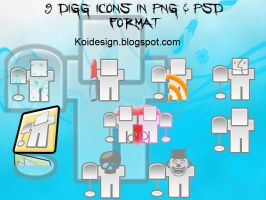 icons for digg  lover by koidesign