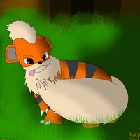Growlithe by AbagailFlare