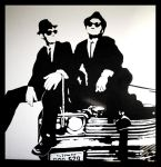 Blues Brothers on my wall. by PeterPan-Syndrome