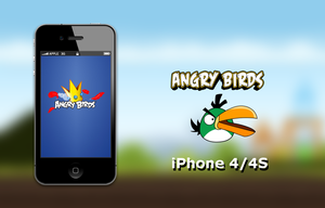 Angry Birds iPhone 4S Wallpaper by biggzyn80