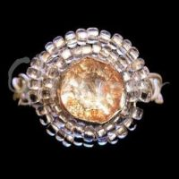 golden zircon old style ring by kufka