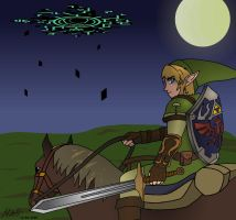 LoZ:TP - Into the Night by Redfred92