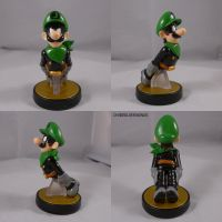 Luigi Mr L Amiibo by ChibiSilverWings