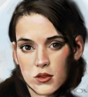 Winona Ryder sketch by tonyob